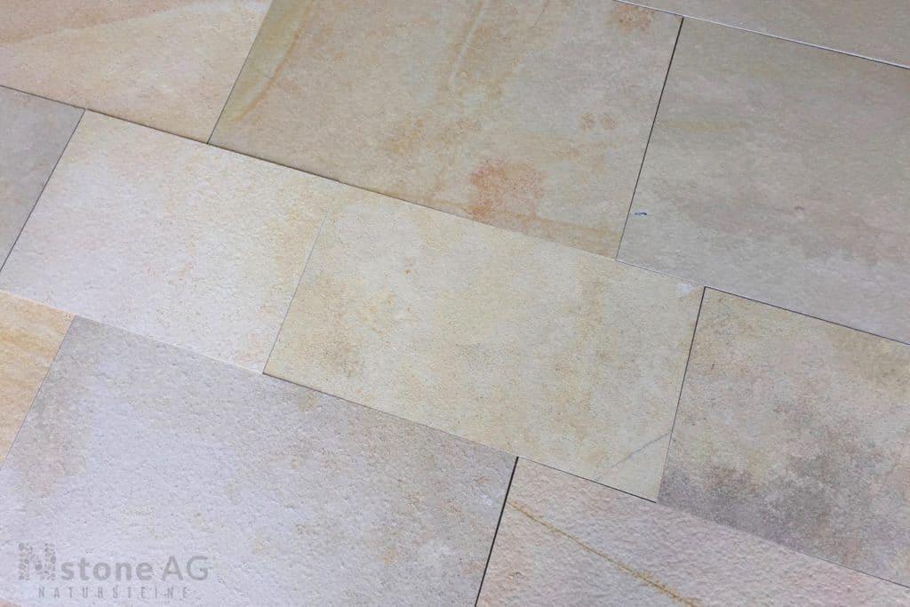 Kalkstein fliesen solnhofener fein gespalten natursteine der nstone ag erschaffen for Fein fliesen borduren