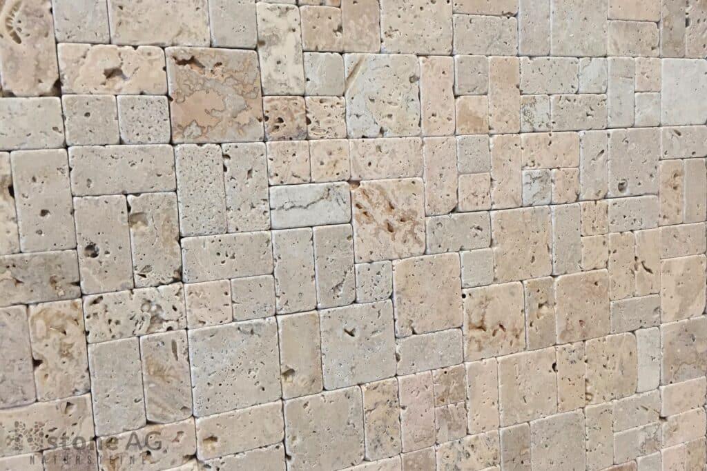 Travertin Mosaik Fliesen getrommelt tb1