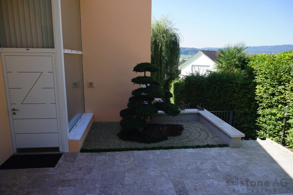 Travertin Terrassenplatten Noce 1