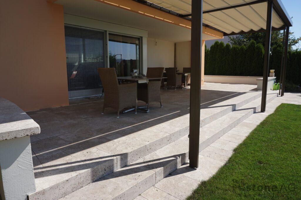 Travertin Terrassenplatten Noce 13
