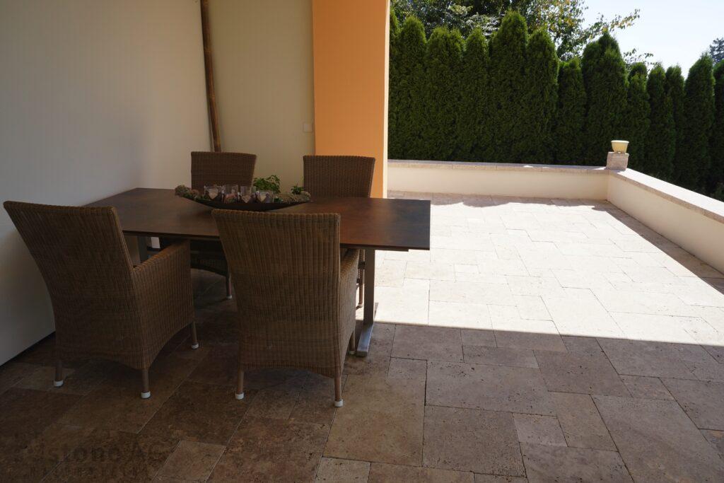 Travertin Terrassenplatten Noce 18