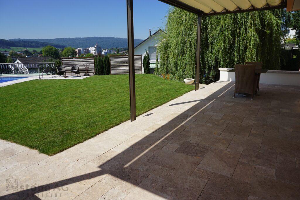 Travertin Terrassenplatten Noce 20