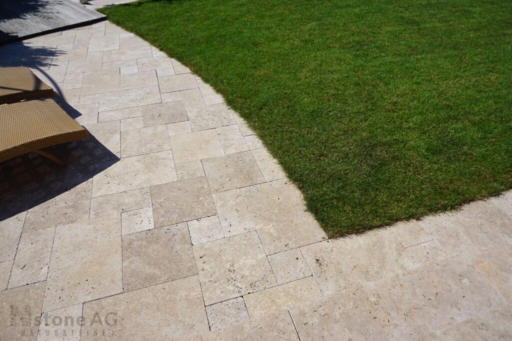 Travertin Terrassenplatten Noce 21