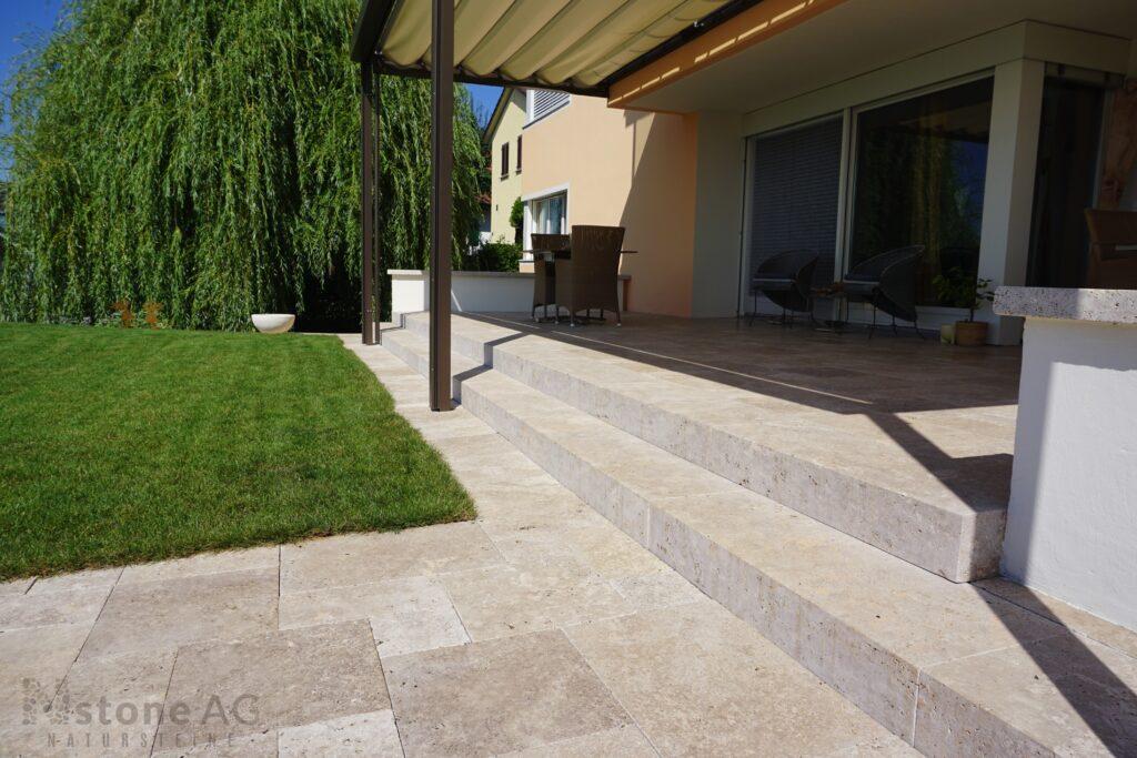 Travertin Terrassenplatten Noce 22