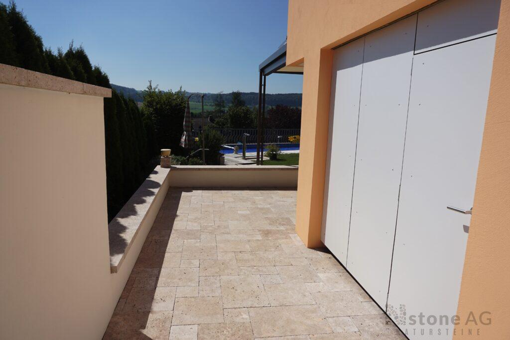 Travertin Terrassenplatten Noce 28
