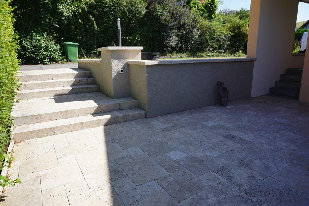 Travertin Terrassenplatten Noce 4