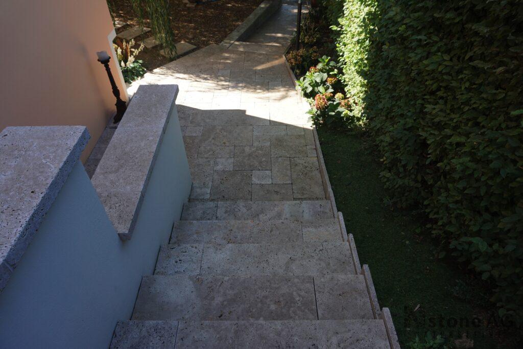 Travertin Terrassenplatten Noce 9