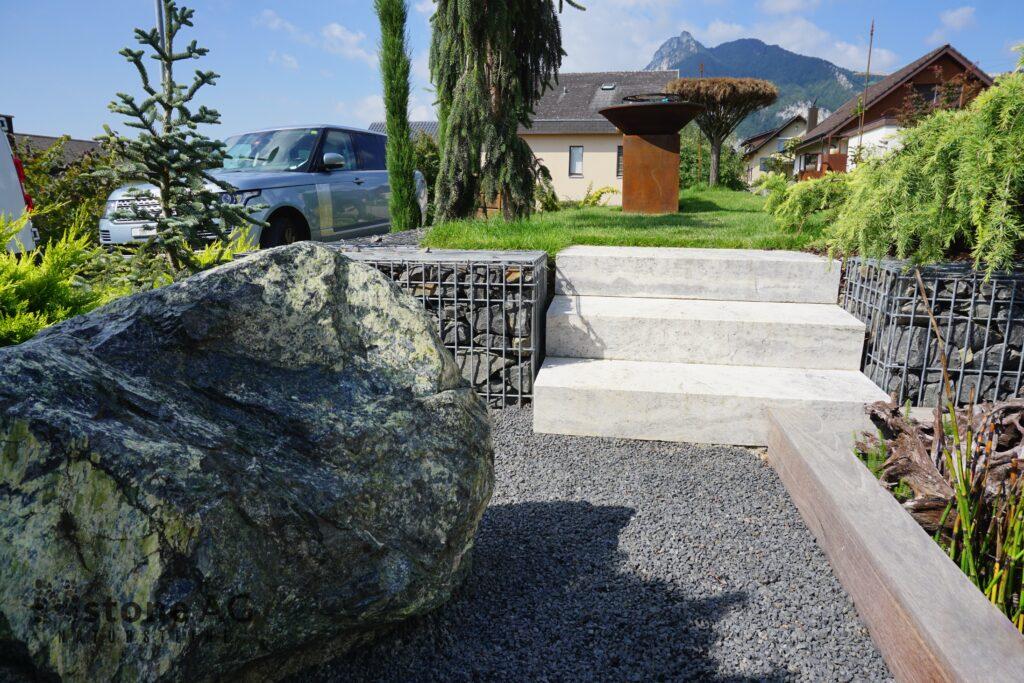Naturstein Blockstufen